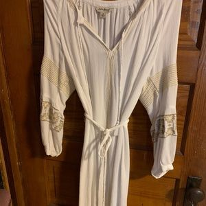 Lucky brand white dress with slip